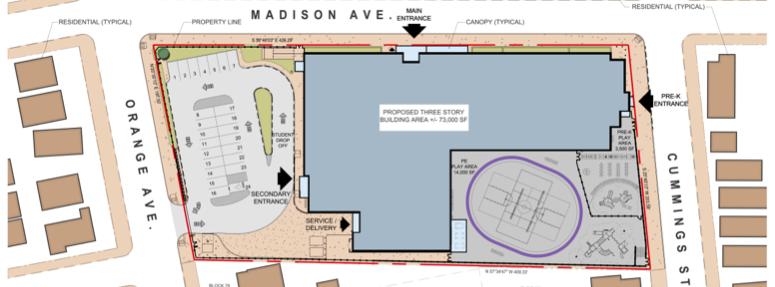New Madison Avenue School - Plan