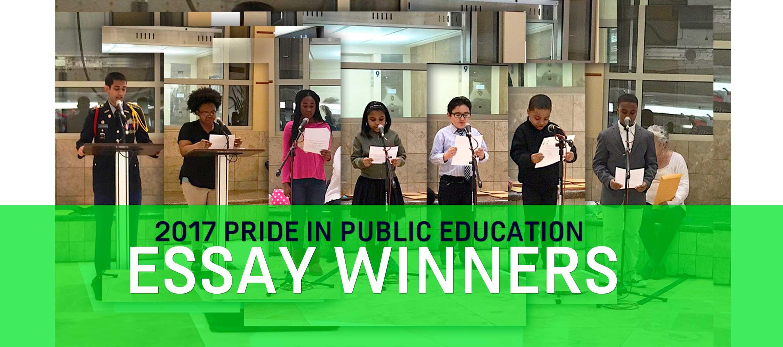 2017 Pride in Public Education Essay Winners