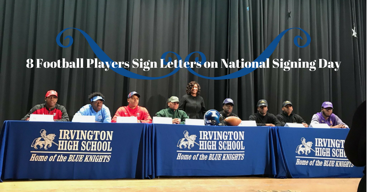 8 Football Players Sign Letters on National Signing Day