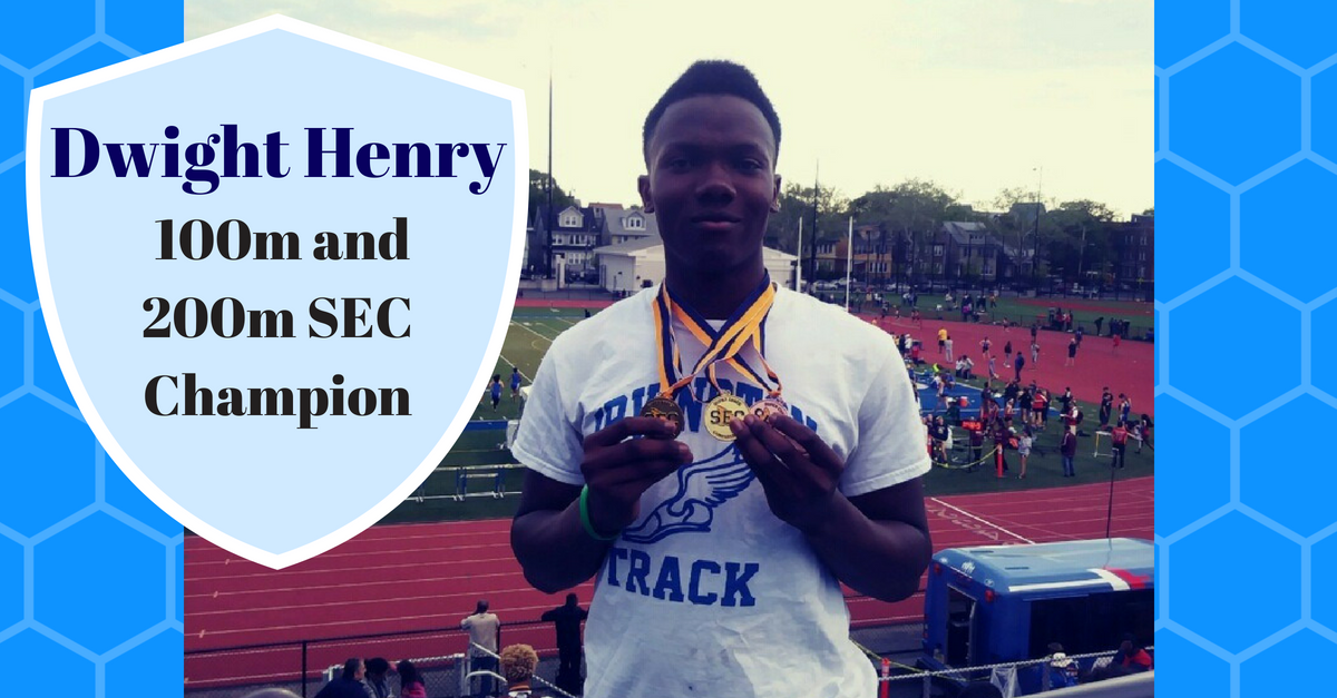 Picture of Dwight Henry 100. and 200m SEC Champion