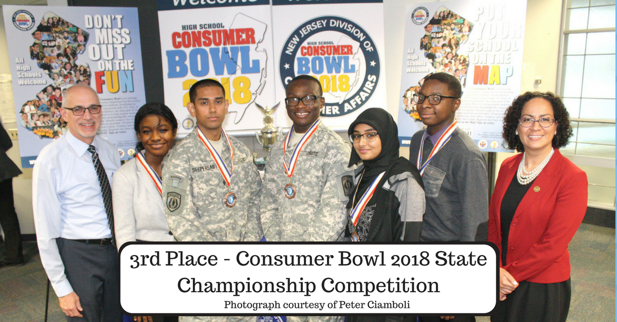 3rd Place Consumer Bowl 2018 State Championship Competition. Photograph courtesy of Peter Ciamboli