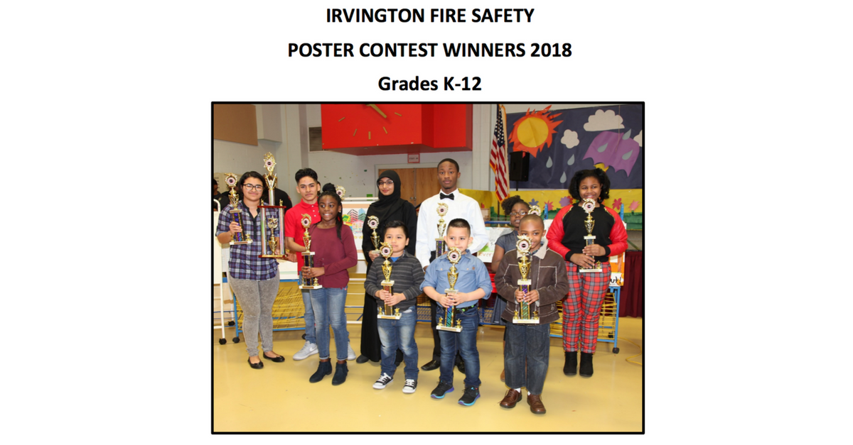 2017 - 2018 Fire Safety Poster Contest winners in New Jersey