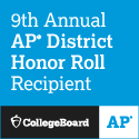 9th Annual AP District Awards Honor Roll Recipient - AP Collegeboard Logo