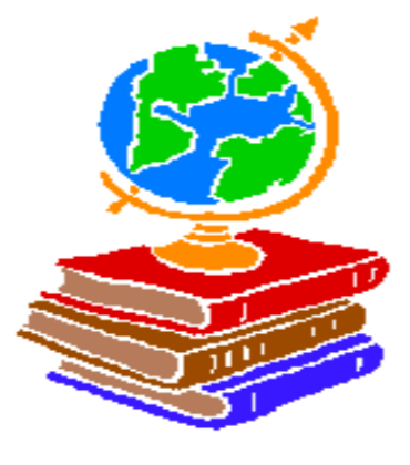 decorative globe over books