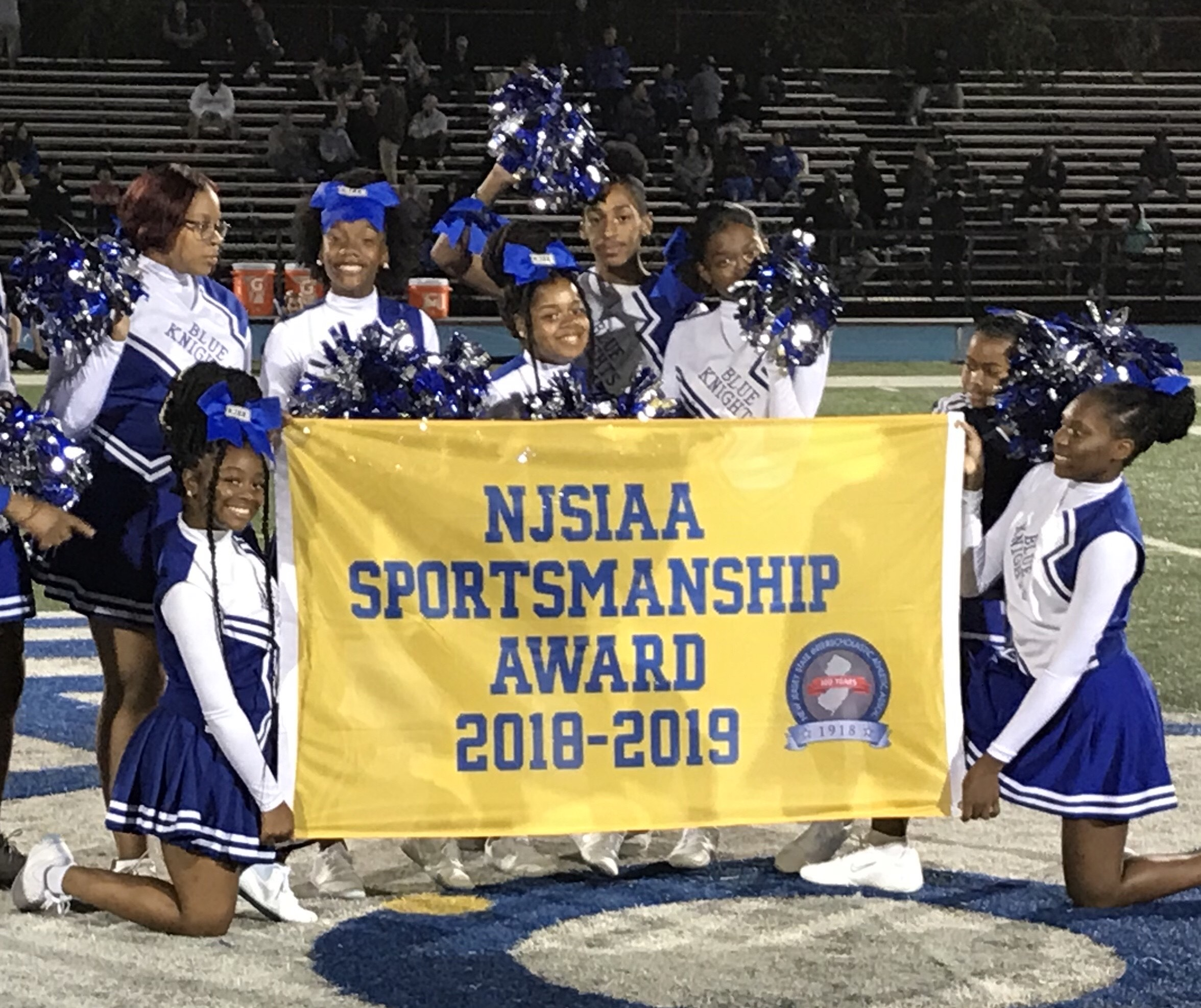2018 - 2019 NJSIAA Sportsmanship Award for Irvington Blue Knights Football