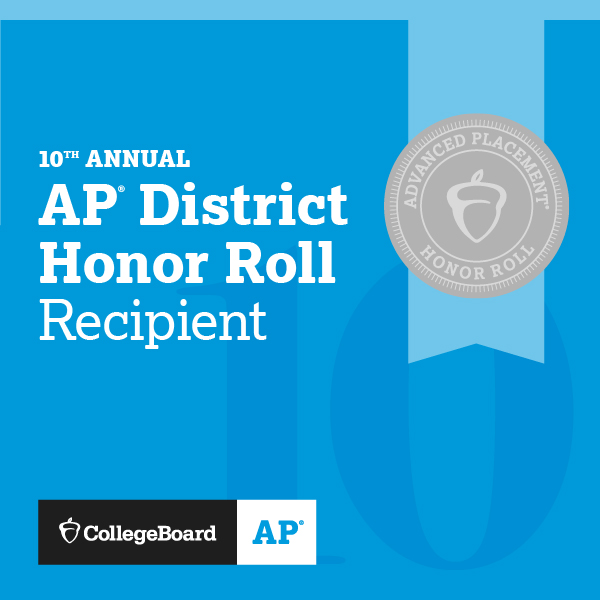 10th Annual AP District Awards Honor Roll Recipient - AP Collegeboard Logo