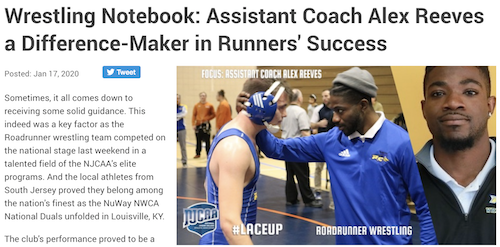 Wrestling Notebook: Assistant Coach Alex Reeves a Difference-Maker in Runners' Success