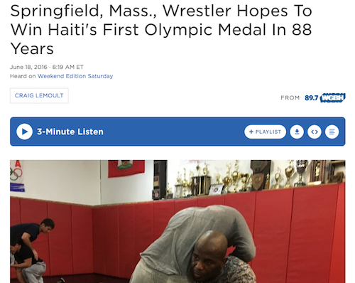 Springfield, Mass., Wrestler Hopes To Win Haiti's First Olympic Medal In 88 Years