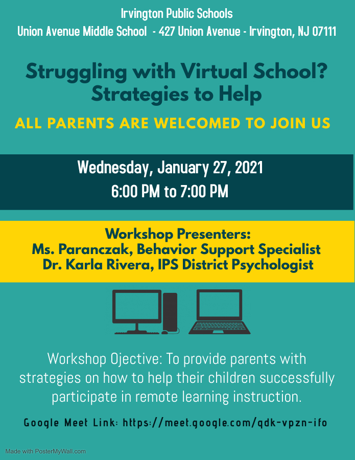20-21 Parent Worksho Remote Learning Strategies to Help